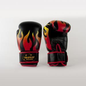 Gant Cuir Flammes