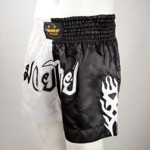 Short Boxe Thaï Noir / Blanc / Tribal