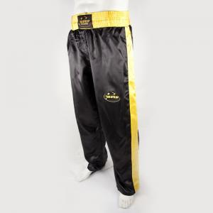 Pantalon full contact noir et jaune