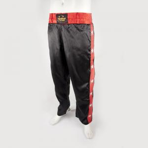 Pantalon full contact noir et rouge